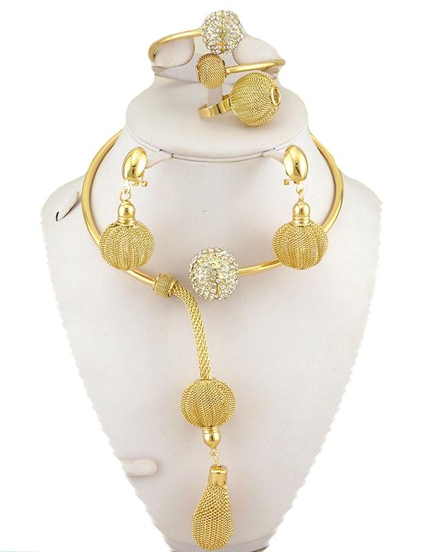 վաճառքի նոր ոսկերչական իրեր `աֆրիկյան մեծ զարդեր, սահմանում են բարձրորակ հարսանեկան զարդեր, որոնք ներկայացնում են ոսկե նորաձևության վզնոց
