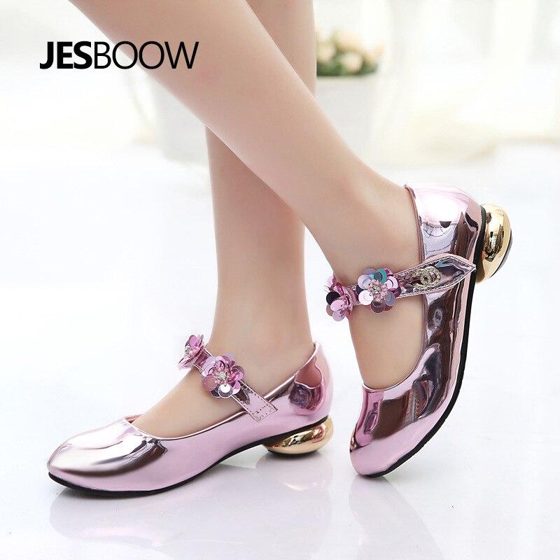 Meisje bloem strass prinses schoenen Gevormde hiel schoenen Dansende - Kinderschoenen - Foto 5