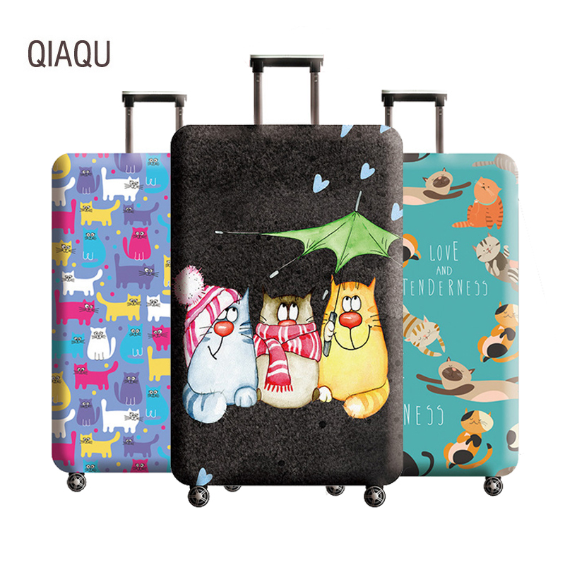 Luggage-Cover Travel-Accessories Trolley Elastic Protective-Covers Trunk Cute 18-32inch