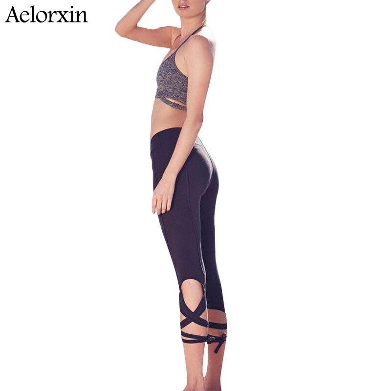 Nové 2019 dámské kalhoty Lulu Capris Bandage Sexy Under Leg Lady Slim Fit Pants S M L