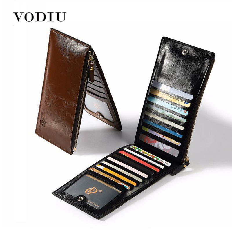 Wallet Men Leather Coin Purses Male Clutch Money Credit Card Holder Slim Wallet Long Phone Brand Photo PORTFOLIO Men Wallets