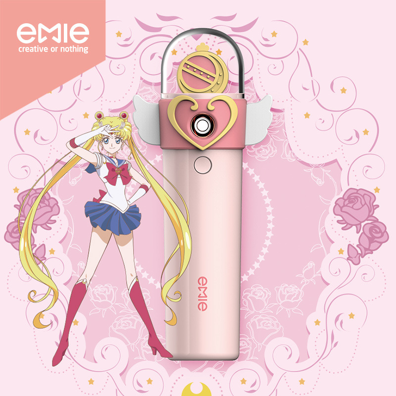 2 in 1 Sailor Moon Nano Mist Sprayer Facial Body Nebulizer Steamer Moisturizing Skin Care Cosmetic