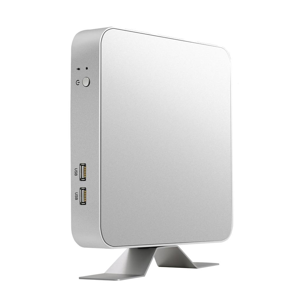 Mini PC i7-7500U i5-7200U i3-7100U Windows 10 & 8,1 Linux 4 K UHD HDMI VGA 6 * USB 300 M WiFi Dual lagerung Gigabit Ethernet HTPC