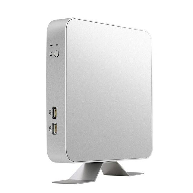 Mini PC i7-7500U i5-7200U i3-7100U Windows 10 & 8.1 Linux 4K UHD HDMI VGA 6*USB 300M WiFi Dual Storage Gigabit Ethernet HTPC