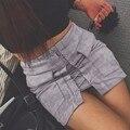 2017 primavera camurça mulheres saia de couro sexy lace up vintage cintura alta formal bolso verão bodycon bandage lápis curto saias