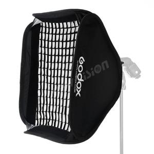 Image 4 - Godox Ajustable 80 cm * 80 cm Flash Softbox grille + S type support + nid dabeille grille montage Kit pour Flash Speedlite Studio prise de vue