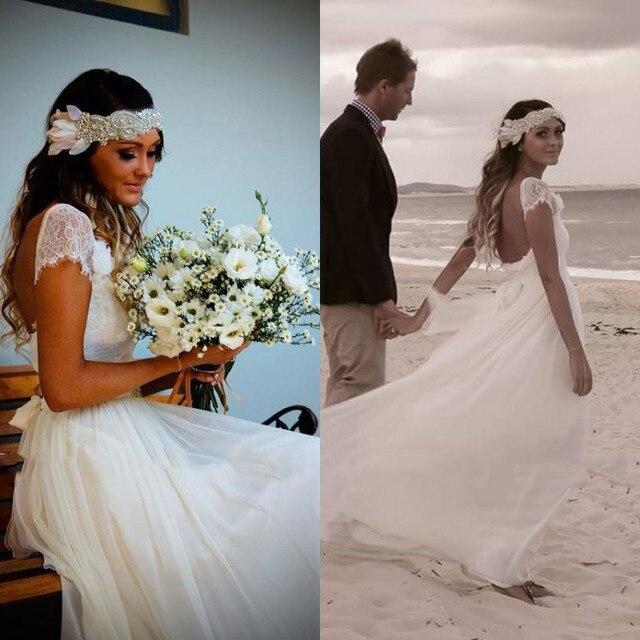 Romantic Scoop Neck Cap Sleeve Sheer Lace Wedding Dress 2014 Elegant ...