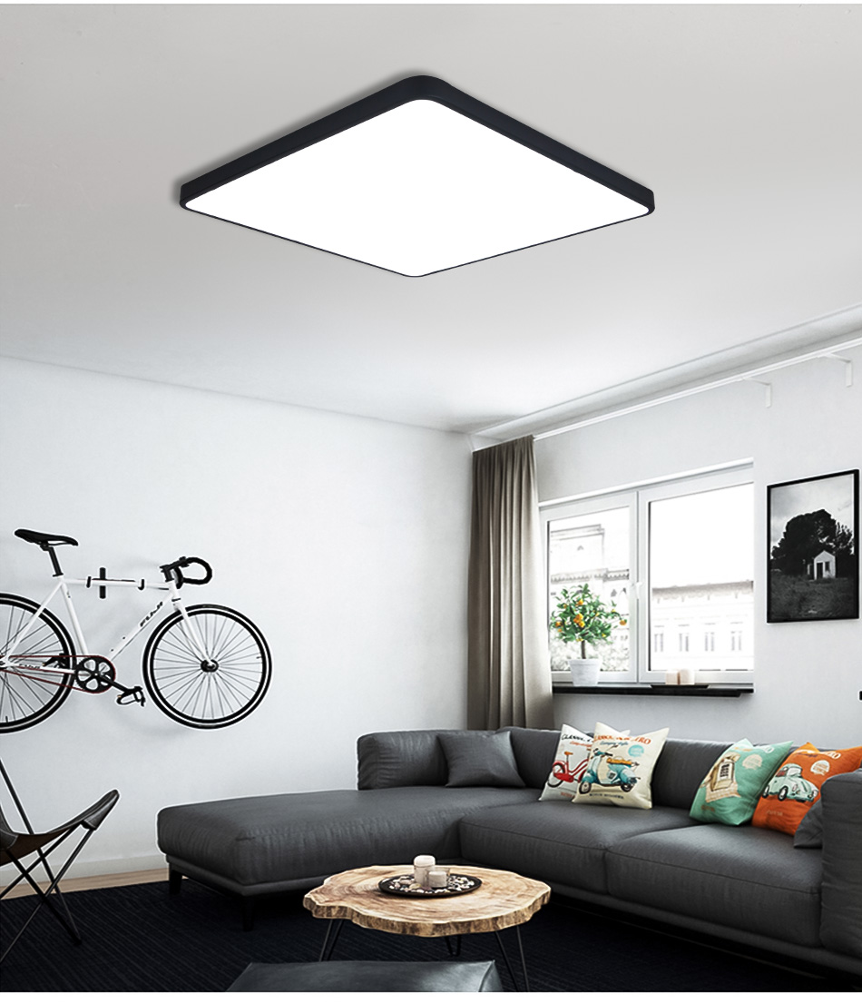 HTB1do5faPzuK1Rjy0Fpq6yEpFXaj LED Ceiling Light Modern Lamp Living Room Lighting Fixture Bedroom Kitchen Surface Mount Flush Panel Remote Control