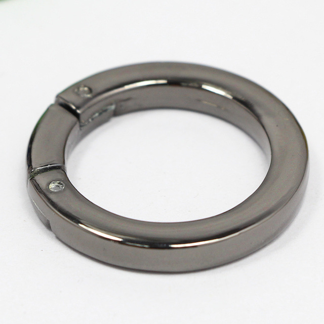 High Quality Bag Parts Adjustable Metal O Ring For Handbag Die-casting Zinc Alloy DIY O-Ring Hardware Luggage Travel Accessories