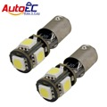 50 X T11 BA9S T4W 5 smd 5050 led Canbus sem erro carro Wedge Lado marcador indicador Interior led light bulb lamp 12 V # LG05