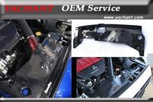 Автомобиль для укладки углеродного волокна охлаждения панель отделка, пригодный для 08-13 mitsubishi lancer evolution evo x evo 10 cz4a oem стиль охлаждения панели