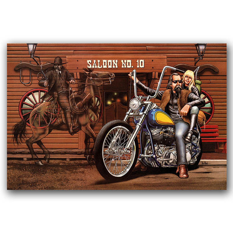 Us 3 88 47 Off Easy Rider Classic Movie Poster Canvas Wall Art Print Canvas Painting 30x45 60x90cm Decorative Picture Wallpaper Bedroom Decor In