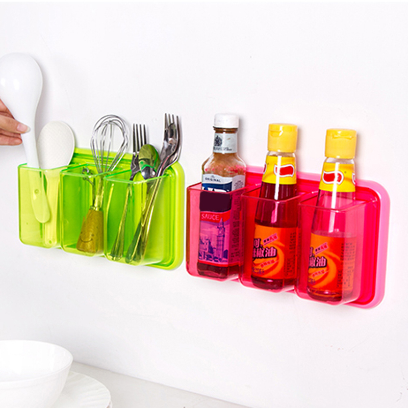 Multi-functional Kitchen Storage Shelve Rack Wall Mounted Bathroom Toothbrushes Toothpast Holder 26*15cm E#CH