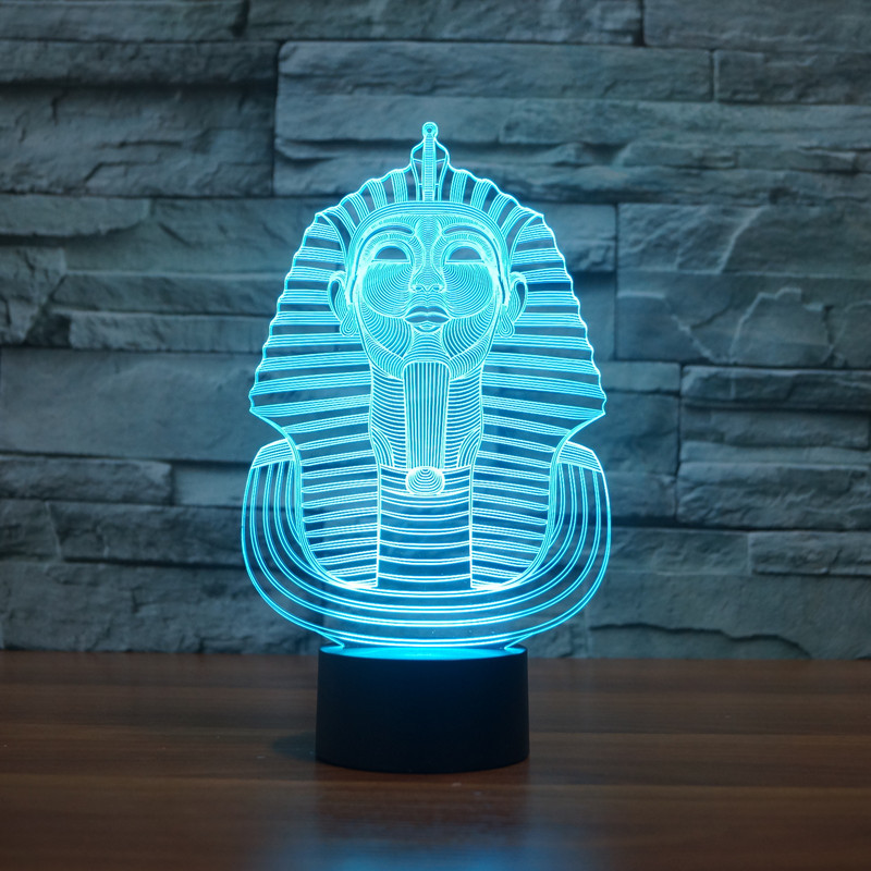 3D Atmosphere lamp 7 Color Changing Visual illusion LED Decor Lamp Sphinx Home Table Decoration for Child Gift