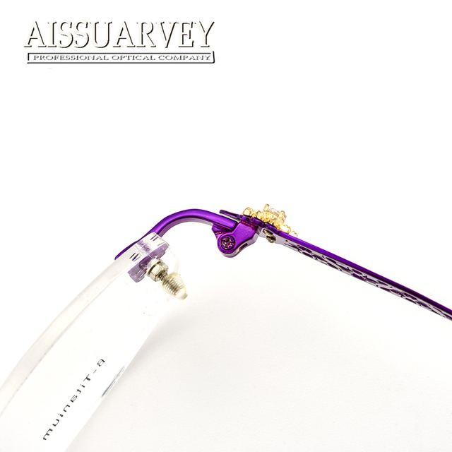 Rimless Eyeglasses Frames Women Glasses Fashion Optical Prescription ...