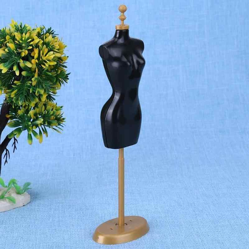Suporte de exibição vestido roupas vestido manequim modelo suporte para boneca do bebê acessórios meninas presente jogar brinquedo cedo brinquedos educativos