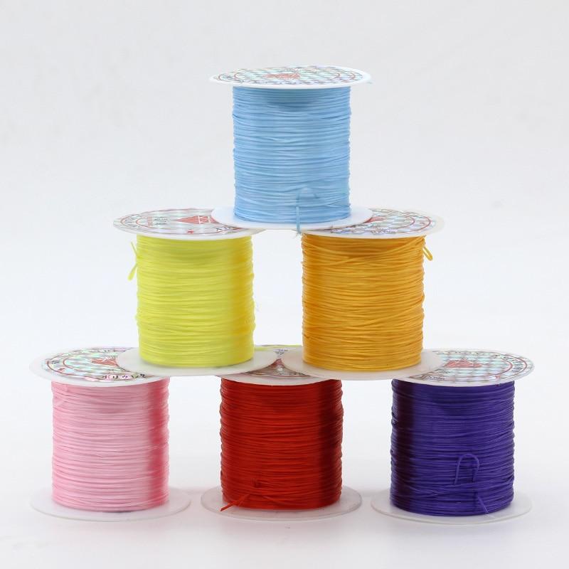 Clear Roll Elastic Stretch Thread Cord Beading String Kids Craft 2 Rolls