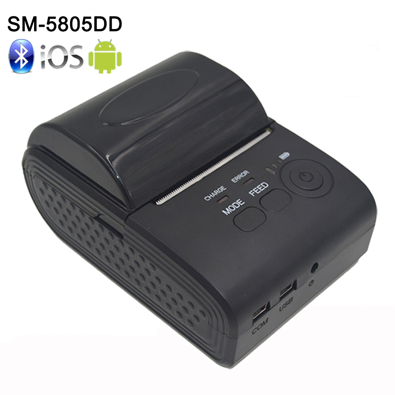 New Arrival ZJ - 5805 58mm Bluetooth 4.0 Android 4.0 POS Receipt Thermal Printer Bill Machine for Supermarket EU / US / UK PLUG portable mini 80mm bluetooth thermal receipt printer pos bill printer 80mm for android pos support multi language eu us uk plug