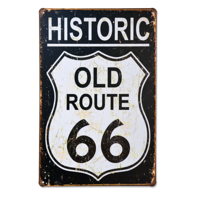 Beautiful Historic OLD Route 66 Freedom Vintage Metal Signs Antique Motor  YN68