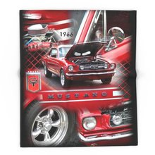 Blanket Custom 1966 Mustang Fleece Blanket Sofa/Bed/Plane Travel Plaids Bedding Towel