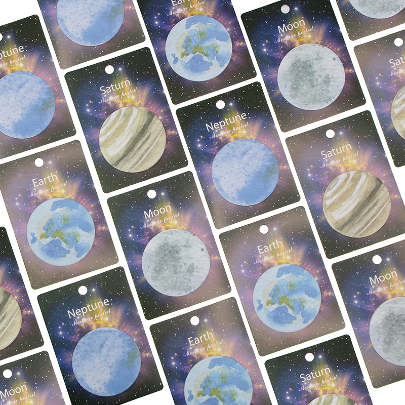 1pcs 30 Sheets Korean Cute Lonely Planet Earth Moon Neptune Sedna Stickers Round Shape Memo Pad Sticky Notes Bookmarks barren earth barren earth on lonely towers 2 lp