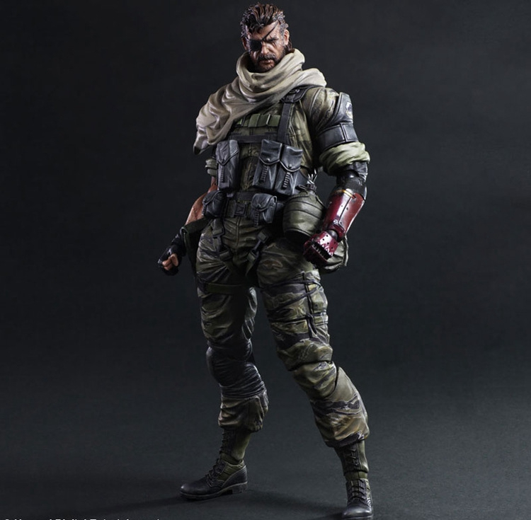 Play Arts Kai Solidus Snake Metal Gear Solid GROUND ZEROES PA 27cm PVC Action Figure Doll Toys Kids Gift Brinquedos metal gear solid v the phantom pain play arts flaming man action figure super hero