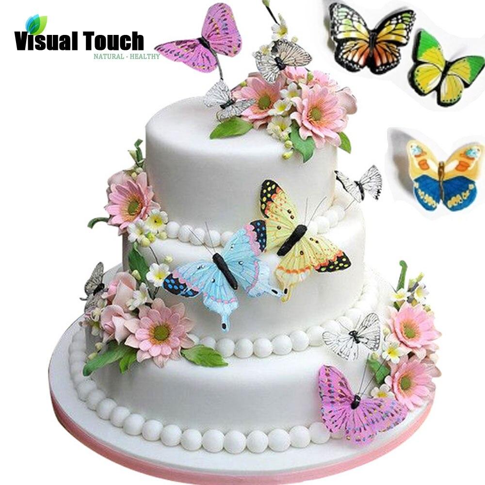 изображением вафельные цветы для торта фото окружающем
