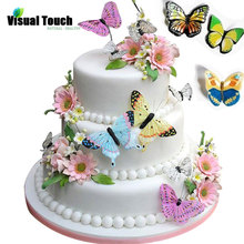 Birthday Decoration Wafer Rice-Paper Edible Wedding Butterfly Pastry-Tool Toppers Glutinous