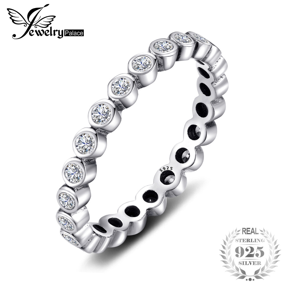 Jewelrypalace 925 Sterling Silver Small Brilliant Cut Princess Ring  Gifts For Women Anniversary Gifts Fashion Jewelry New