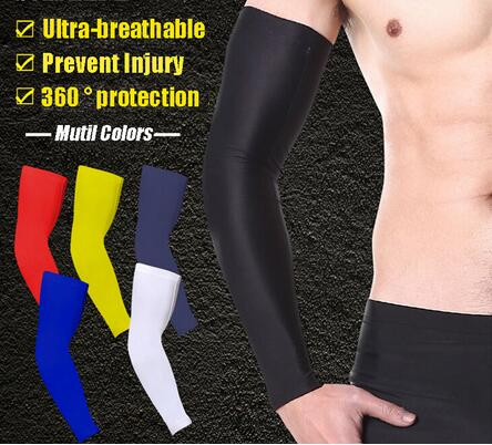 c0d4d3923e Basic Cycling Sleeves elbow support Compression sleeve Sports Arm Sleeve  Baseball Football Basketball elbow protect