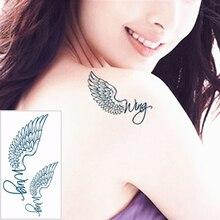 SHNAPIGN 25 Style Mini Temporary Tattoo Body Art, angel wings Designs, Flash Tattoo Sticker Keep 3-5 days Waterproof 10.5*6cm