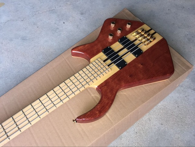 handcrafted 5 String Bass Guitar. Maple fingerboard  3