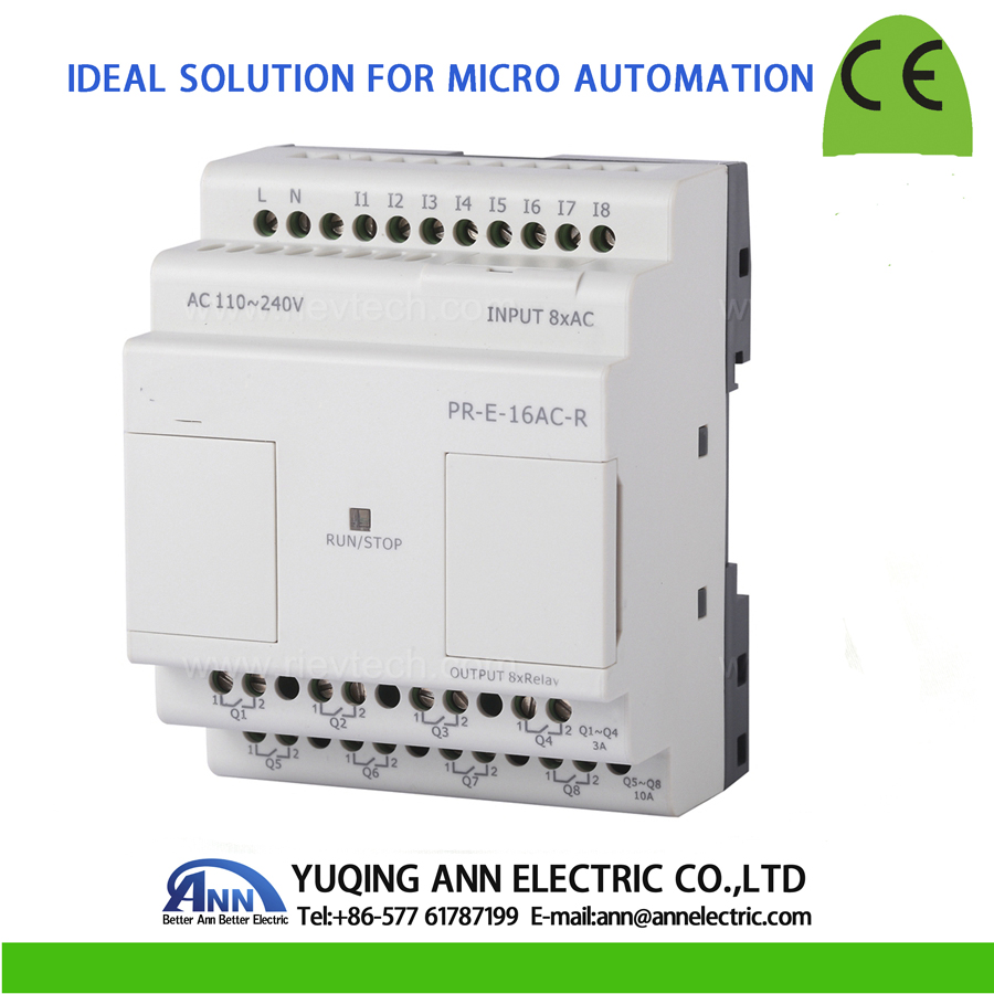 PR-E-16AC-R without LCD, without cable Programmable logic controller,smart relay,Micro PLC controller , CE ROHS цены онлайн