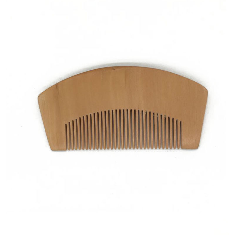 FH-20022 Custom Logo Blank Peach Wood Comb Beard Comb Hair Styling Comb 11cm Length