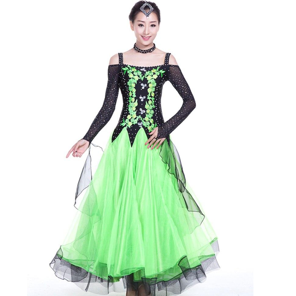 Green Blue Red Dress-For-Ballroom-Dancing Standard Ballroom Dress ...