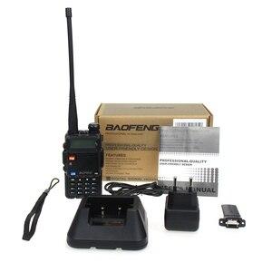 Image 5 - Baofeng UV 5R Two Way Radio Mini Portable 5W Dual Band VHF UHF Walkie Talkie UV5R 128CH FM Transceiver Hunting Ham Radio Scanner