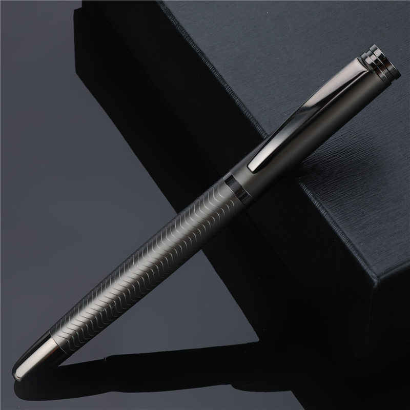 1 PC High Quality Ballpoint Pen Metal Business Writing Signing Calligraphy Pens Gift Box Office School Stationary Supplies 03733