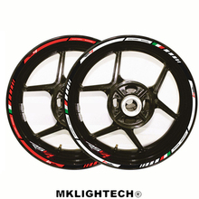 12 X Thick Edge Outer Rim Sticker Stripe Wheel Decals Motorcycle protection FIT APRILIA RSV4 17