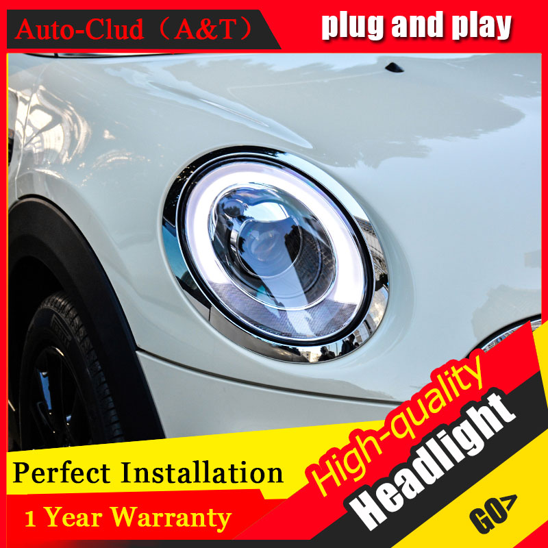 Auto Clud Car Styling For Mini F56 headlights 2014-2015 For Mini F56 head lamp led DRL front Bi-Xenon Lens Double Beam HID KIT auto clud style led head lamp for benz w163 ml320 ml280 ml350 ml430 led headlights signal led drl hid bi xenon lens low beam