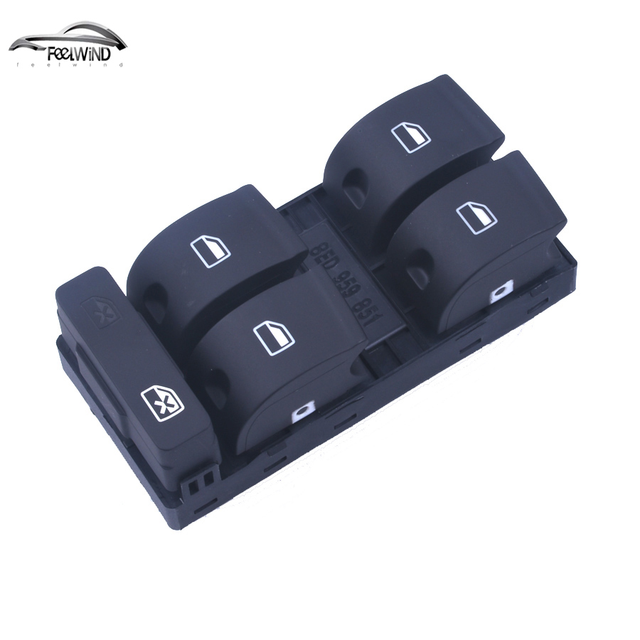 цена на Window Switch Windows Panel Fit toggle switch for Audi A4 B6 B7 Window Switches Master Electric Power 8ED 959 851 8E0 959 851