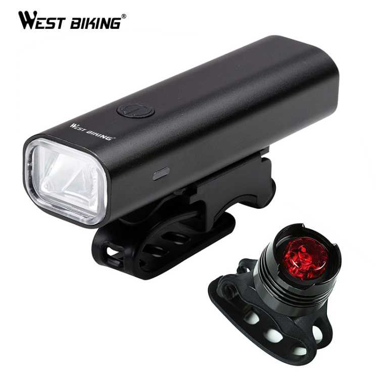 Light Bike Led Set USB Rechargeable Bicycle Front Headlight Taillight Waterproof
