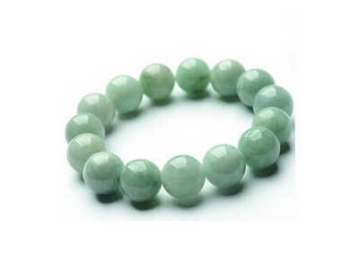 ++++++++ 100% Tự Nhiên A Lớp (jadeite Aqua) Khắc 13 mét Vòng Bead Bracelet