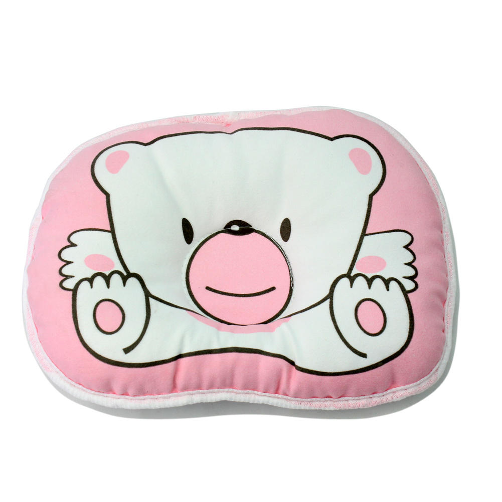 Crib pillows babies - Soft Pink Cotton Newborn Baby Pillows Sleep Head Neck Positioner Support For Baby S Cot Stroller Crib Stroller Car Seat