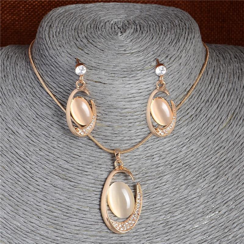 Opal Oval Pendant Necklace...