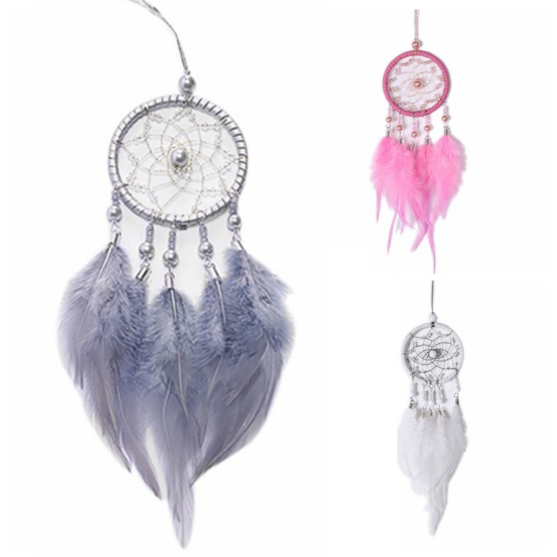 Wall Hanging Dream Catcher /Mini Car Accessories Pendant Wall Hanging/Home garden Decor /birthday gift Pink & White & gray