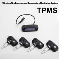 Шин Давление мониторинга Системы автомобиль TPMS с 4 шт. внутренний Датчики Высокая Низкая Давление высокой температуры предупреждения