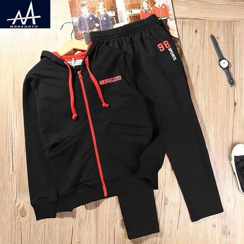 Autumn Spring Children`s Tracksuit Child Boys Cotton Hoodies 2-Piece Set Zipper Hoodies+Long Pant Jogger Boys Sport Suit Outwear