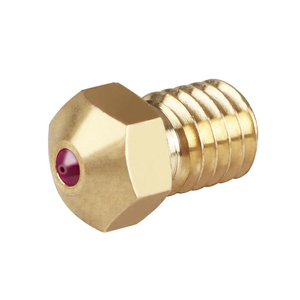 Buse haute température rubis e3d V6 1.75mm 0.4mm utilisée pour les matériaux spéciaux PETG ABS PET PEEK NYLON PRUSA I3 MK3/LulzBot imprimante 3d