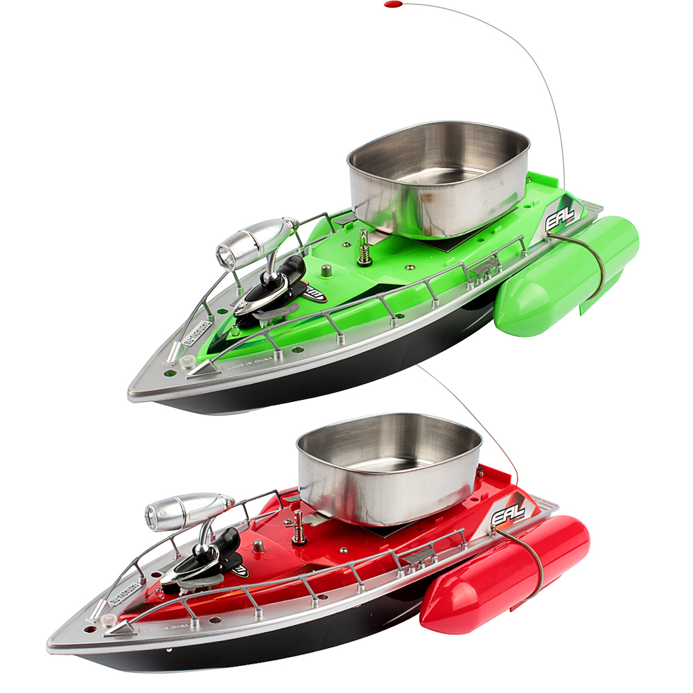 Mini rc bait fishing boat 200m remote boat green and 5 for Mini fishing boats
