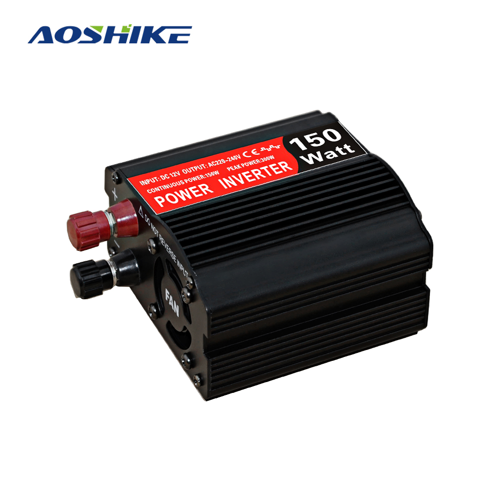 AOSHIKE <font><b>200w</b></font> Car <font><b>Inverter</b></font> DC 12V to 220V AC Modified Sine Car Converter <font><b>inverters</b></font> Adapter Voltage Auto Power Supply Inversor image